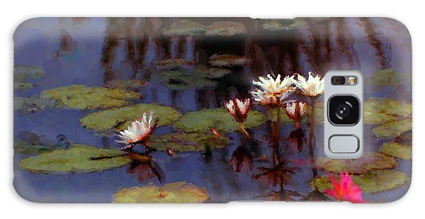 Lily Pond Watercolor Galaxy Case