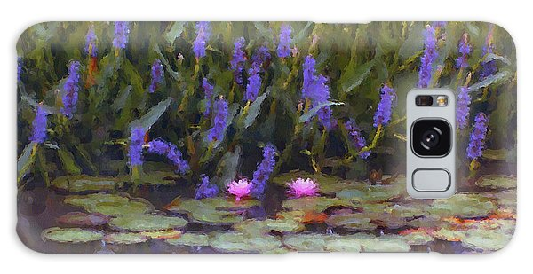 Lily Pond Watercolor Painting Galaxy Case