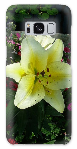 Lily Upon The Pond Galaxy Case