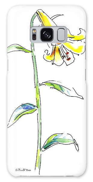 Lily Watercolor Painting 2 Galaxy Case