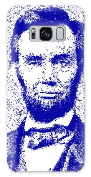 Us Civil War Galaxy Case - Lincoln Abstract Blue by Greg Collins