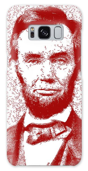 Us Civil War Galaxy Case - Lincoln Abstract Red by Greg Collins
