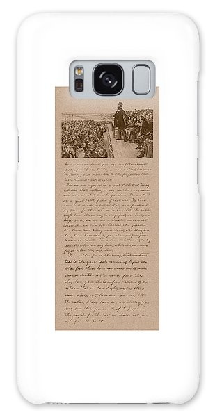 Abraham Lincoln Galaxy Case - Lincoln And The Gettysburg Address by War Is Hell Store