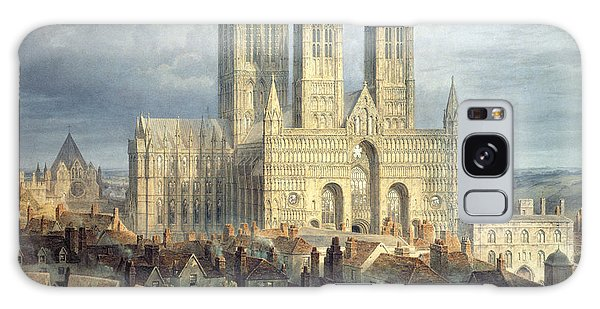 Place Of Worship Galaxy Case - Lincoln Cathedral From The North West by Frederick Mackenzie
