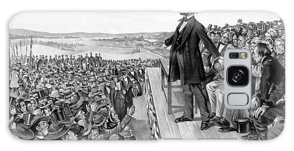 Lincoln Delivering The Gettysburg Address Galaxy Case