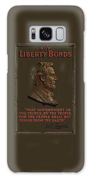 Abraham Lincoln Galaxy Case - Lincoln Gettysburg Address Quote by War Is Hell Store