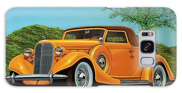 Motor Galaxy Case - Lincoln K Convertible 1935 Painting by Paul Meijering