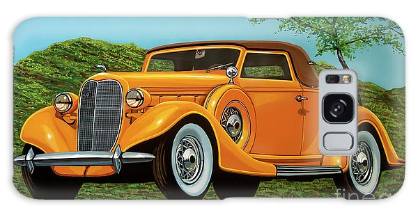 Coupe Galaxy Case - Lincoln K Convertible 1935 Painting by Paul Meijering