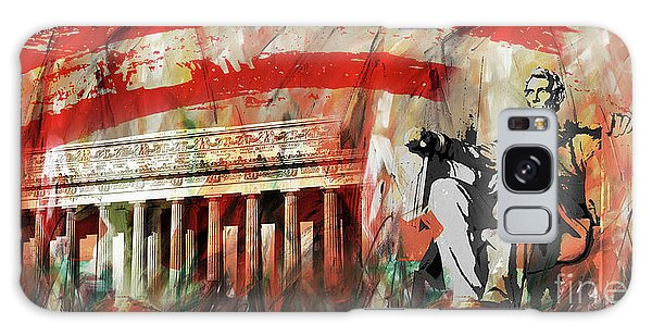 Lincoln Memorial And Lincoln Statue Galaxy Case by Gull G