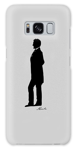 Us Civil War Galaxy Case - Lincoln Silhouette And Signature by War Is Hell Store