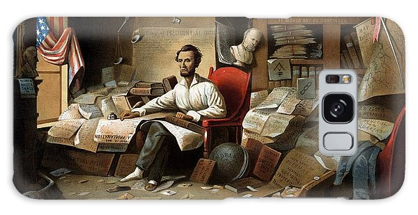 Abraham Lincoln Galaxy Case - Lincoln Writing The Emancipation Proclamation by War Is Hell Store