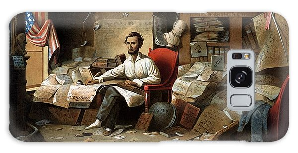 Lincoln Writing The Emancipation Proclamation Galaxy Case by War Is Hell Store
