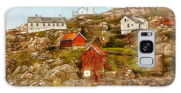 Lindesnes Lighthouse Galaxy Case