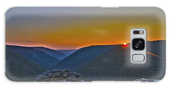 Lindy Point Sunset Galaxy Case