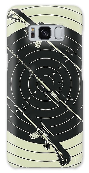 Guns Galaxy Case - Line Art Rifle Range by Jorgo Photography - Wall Art Gallery