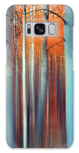 Lines Of Autumn Galaxy Case by John De Bord