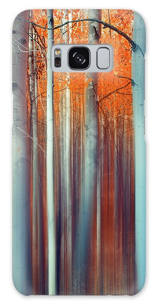 Lines Of Autumn Galaxy Case
