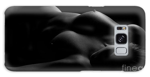 Figures Galaxy Case - Lines Of Light Black And White by Naman Imagery