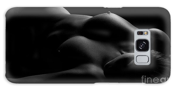 Breast Galaxy Case - Lines Of Light Black And White by Naman Imagery