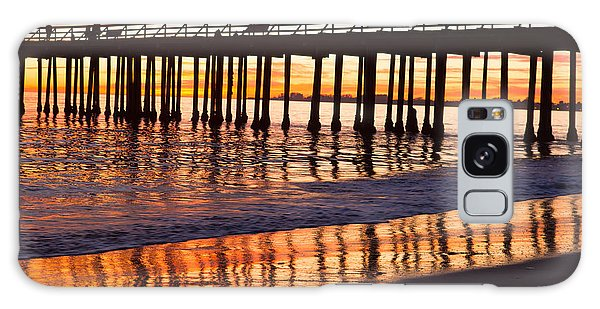 Sunset Seacliff Shadows Galaxy Case