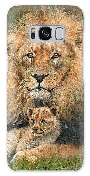 Lion And Cub Galaxy Case by David Stribbling