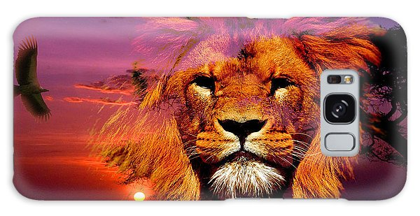 Lion And Eagle In A Sunset Galaxy Case