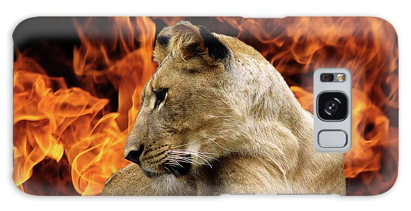 Lion And Fire Galaxy Case