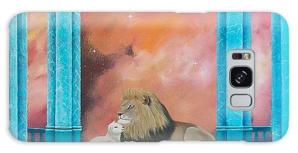 Lion And Lamb Galaxy Case