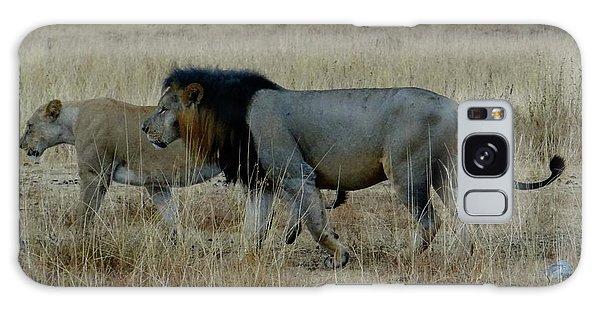 Exploramum Galaxy Case - Lion And Pregnant Lioness Walking by Exploramum Exploramum