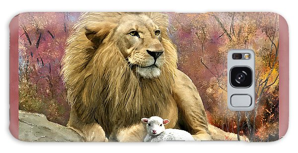 Lion And The Lamb Galaxy Case
