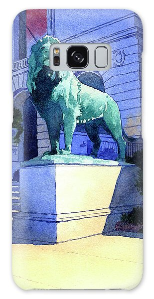 Lion At The Art Institue Of Chicago Galaxy Case