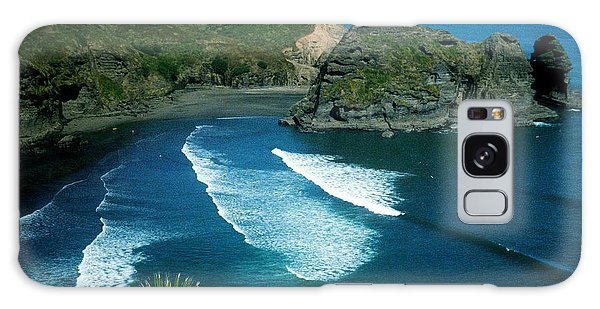 Lion Beach Piha New Zealand Galaxy Case
