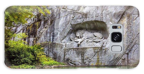 Lion Of Lucerne Galaxy Case by Carol Japp
