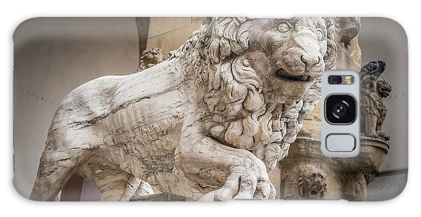 Lion On The Porch Galaxy Case