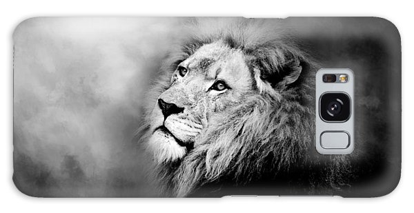 Lion - Pride Of Africa II - Tribute To Cecil In Black And White Galaxy Case