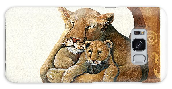 Lion - Protect Our Children Painting Galaxy Case