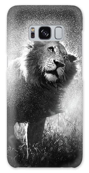 Cat Galaxy Case - Lion Shaking Off Water by Johan Swanepoel