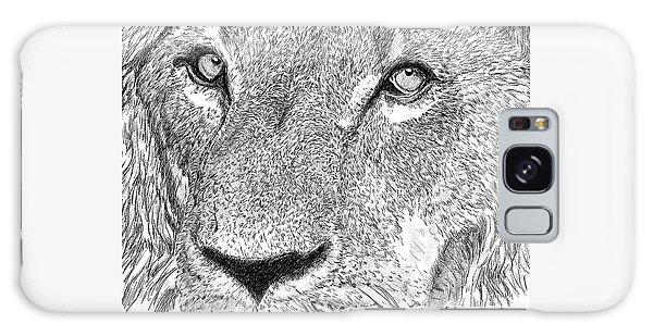 Lion Sketch Galaxy Case