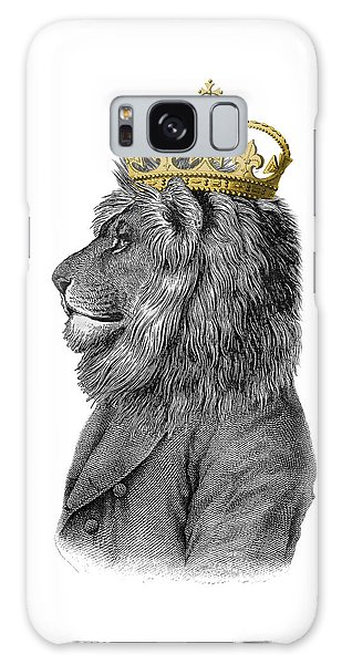 Iphone Case Galaxy Case - Lion The King Of The Jungle by Madame Memento