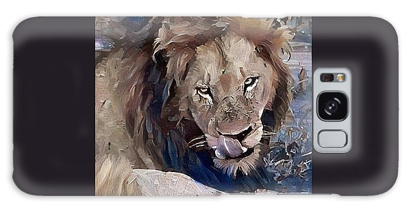 Lion With Tongue Galaxy Case