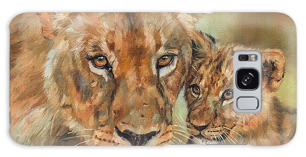 Lioness And Cub Galaxy Case by David Stribbling