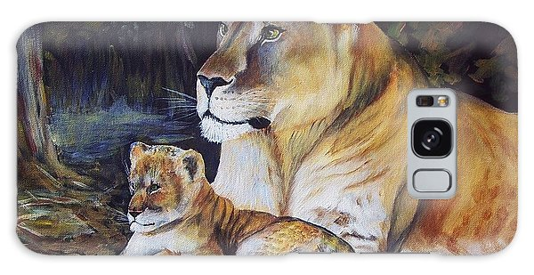 Lioness And Cub Galaxy Case by Ruanna Sion Shadd a'Dann'l Yoder