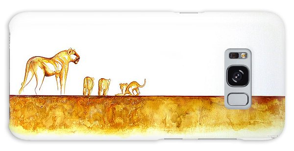 Lioness And Cubs - Original Artwork Galaxy Case
