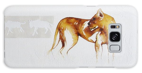 Lioness And Wildebeest Galaxy Case