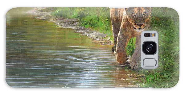 Lioness. Water's Edge Galaxy Case by David Stribbling