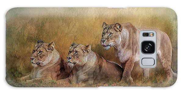 Lionesses Watching The Herd Galaxy Case