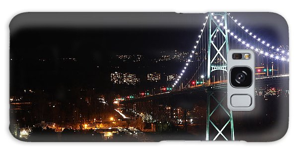 Lions Gate Bridge And Grouse Mountain Galaxy Case