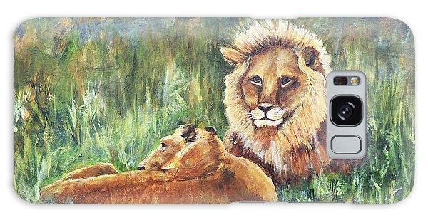 Lions Resting Galaxy Case