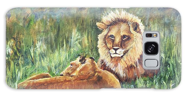 Lions Resting Galaxy Case