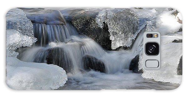 Winter Waterfall In Maine Galaxy Case by Glenn Gordon